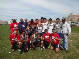 Photo Courtesy of Michelle Martins Men's track team won the ECC Men's Track and Field Championship this past weekend.