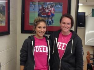 Photo courtesy of Michael Balestra Defenders Bridget Gleason (right) and Alexandra Troiano (left)