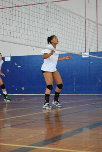 Photo by Carla Pennolino Bianca Steele, whose parents met at Queens College, is ready to make an impact as a freshman starter for the women's volleyball team.