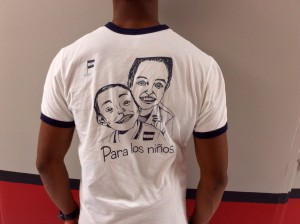 Photo by Christina Cardona SHH Vice President Kevon Manners wearing the club T-Shirt.