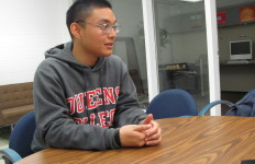 Photo by Brandon Jordan The Knight News sat down with Christopher Labial to discuss his first semester as Student Association President.