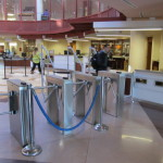 Photo Credit: Aliza Chasan The new turnstile system has been slowing students in need of the library down.