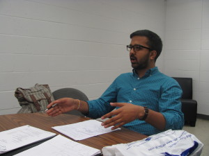 Photo by Brandon Jordan Raj Meheshwari sat down with The Knight News editors to discuss his plans for Queens College.