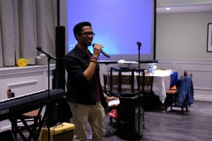 Photo courtesy of Ken Camara, www.kenscamara.com. Kevon Manners, vice president of SHH, co-hosted the benefit concert.