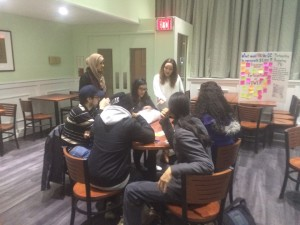 PHOTO BY ALEXANDER KOLOKOTRONIS  Participatory budgeting assemblies feature groups of students planning the  next steps of the process.
