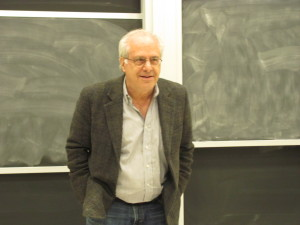 Photo by Brandon Jordan Economist Richard Wolff explained the failures of American capitalism in helping the working class in Kiely Hall 264.