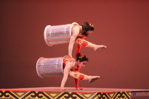 Photo by Bianca He The New Shanghai Circus, a touring Chinese troupe, impressed the audience with the acts put on by flexible acrobats.