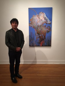 PHOTO BY CHEYNA MULLIGAN An art gallery at Klapper Hall showed the artwork of Jian Guo Zhang seen in the  bottom photo.
