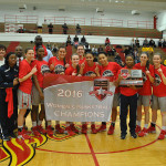 PHOTO COURTESY OF EAST COAST CONFERENCE The Knights celebrated their second consecutive ECC championship on March 6.