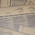 Photo by David Gutenmacher A voter registration form any New York State resident can use to register.