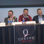 Photo courtesy of Maria Matteo  Major League Soccer player David Villa (second from the right) announced partnership with QC on April 13.