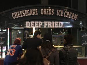 Photo by Jake Cohen Citi Field offers deep fried cheesecake and ice cream for fans to enjoy while watching the Mets this season.
