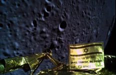 Caption: An image taken from SpaceIL's Beresheet spacecraft, about 13 miles from the moon's surface. Credit: New York Times and SpaceIL/Israel Aerospace Industries