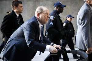 Harvey Weinstein arrives at a Manhattan courthouse during jury deliberations in his rape trial on Feb. 24.John Minchillo / AP file / NBC News